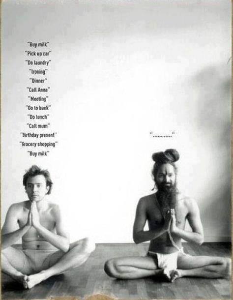 Two Yogis Meditating