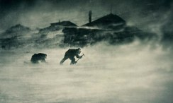 A blizzard at Cape Denison, Commonwealth Bay, during the First Australasian Antarctic Expedition 1911-1914. Photograph: Frank Hurley/State Library of NSW