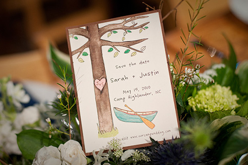 hand painted Save the Date card