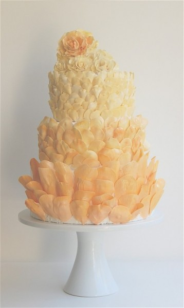 Orange petal cake
