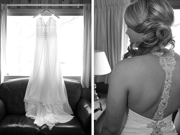 beaded T-back vintage glam wedding gown