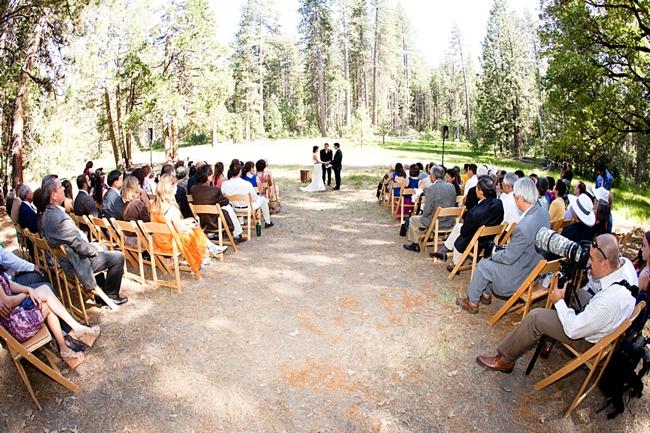 Yosemite wedding ceremony at Evergreen Lodge