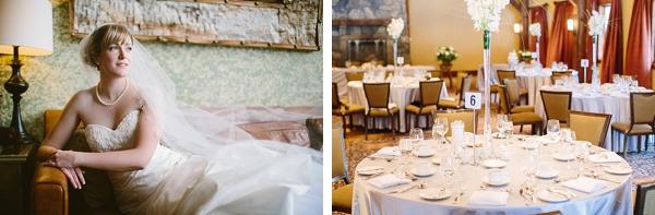 bridal portrait and reception area