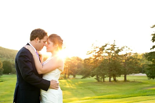 couple at sunset   New Hampshire Mountain Wedding