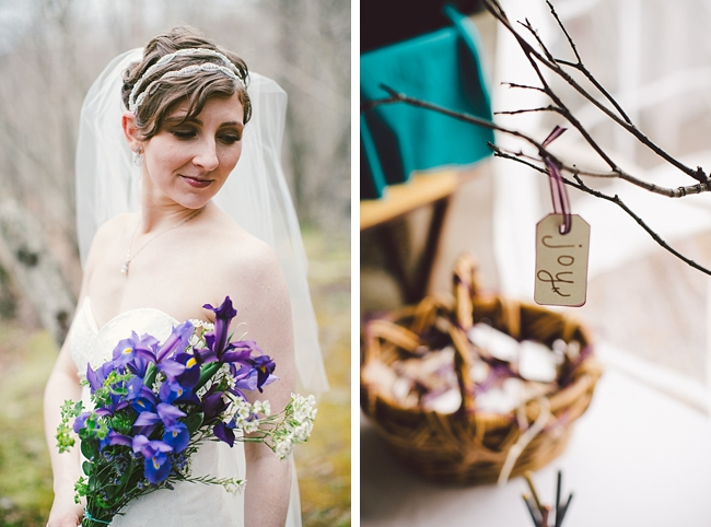 NY mountain bridal portrait and handmade tags
