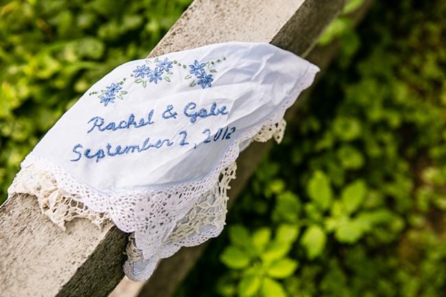 Vintage Handkerchief   New Hampshire Mountain Wedding