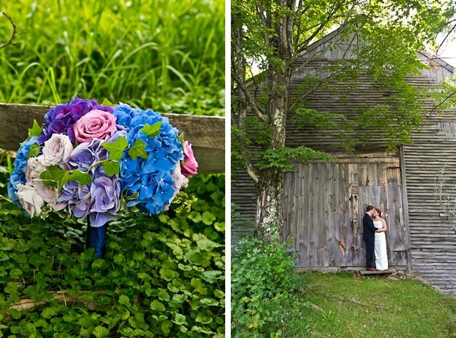 hydrangea bouquet   New Hampshire Mountain Wedding