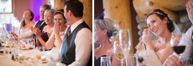 reception laughter during toasts
