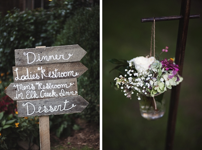 wooden wedding signs rustic chic wedding via http://mountainsidebride.com