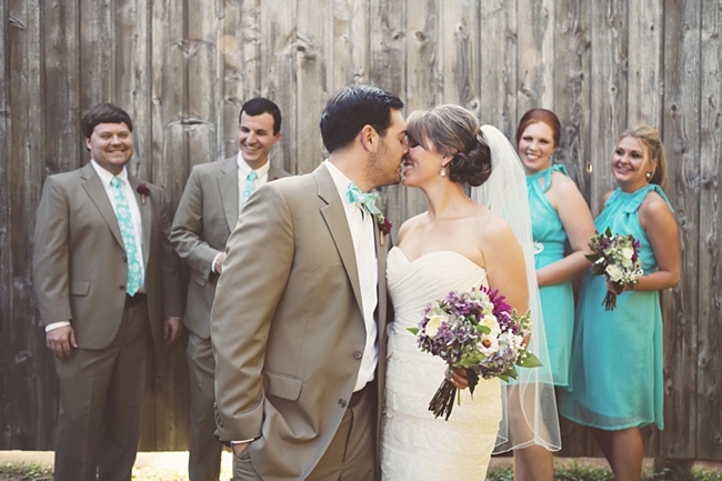 bridal party rustic chic wedding via http://mountainsidebride.com