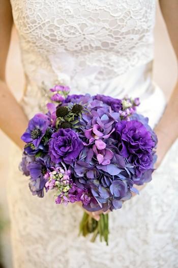 Gorgeous purple bouquet