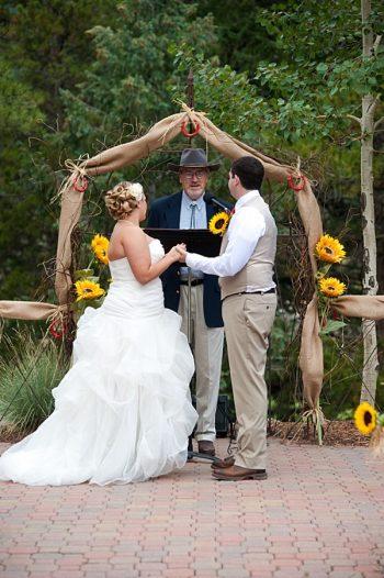 sunflower wedding ceremony   Colorado Wedding