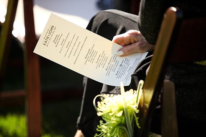 ceremony program | Deer Valley Utah Wedding | Pepper Nix Photography