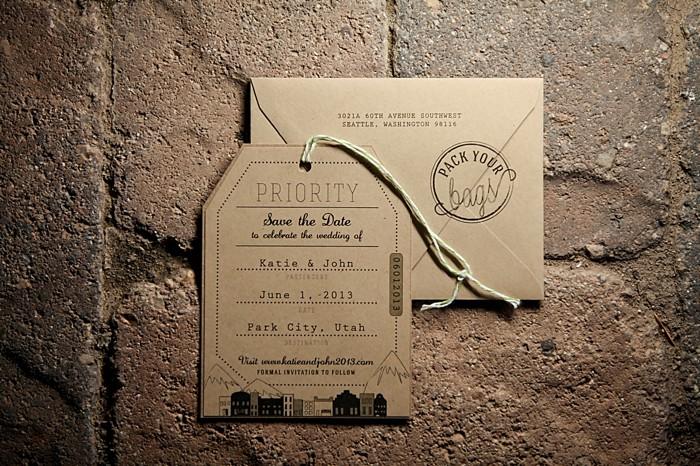 modern brown wedding stationary | Deer Valley Utah Wedding |  Pepper Nix Photography