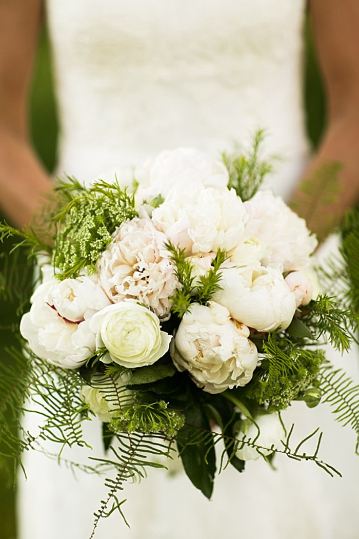 Romantic white and green bouquet | Gedney Farms Wedding in the Berkshires| Shane Godfrey Photography