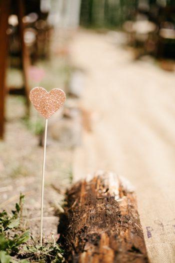 glitter heart marker | Park City Luxury Home Wedding