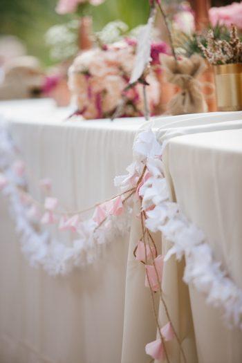 table garland | Park City Luxury Home Wedding