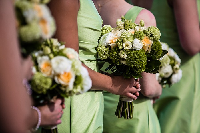 Pretty Green, White + Gold Wedding at the Mount Washington Hotel