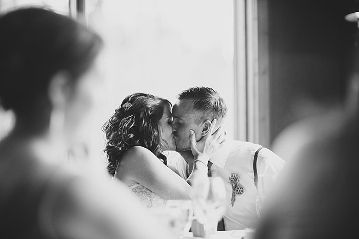 bride and groom kiss   Pyramid Lake wedding   Jarusha Brown Photography
