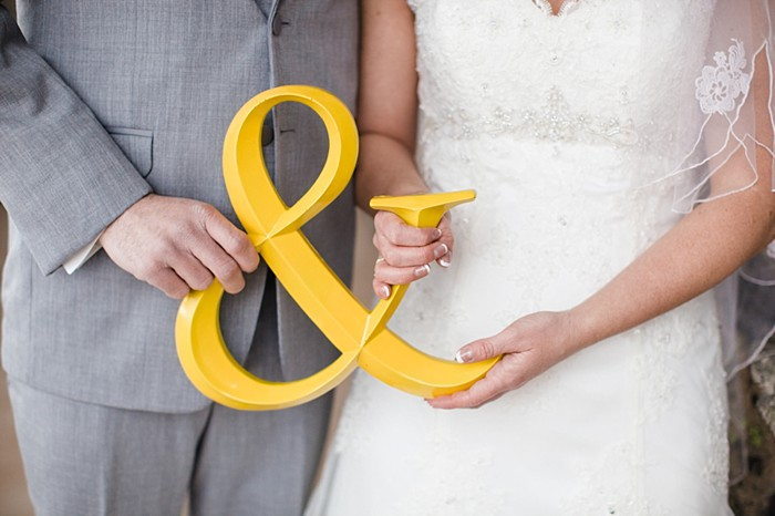 Handcrafted Devil's Thumb Winter Wedding with Yellow and Gray Details