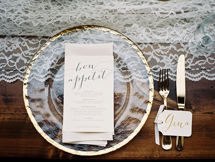 Romantic Lake Lure Wedding with Rustic Glam Details