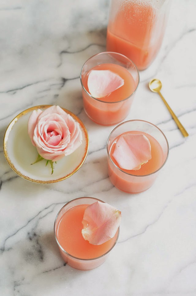 Peach Rose Lemonade Signature Drink Inspiration + Recipe