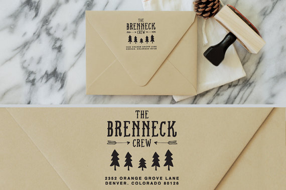Wedding stamp | woodland address