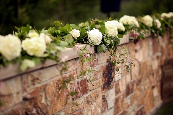 white ceremony flower ideas  | Park City Utah Wedding | Pepper Nix Photography