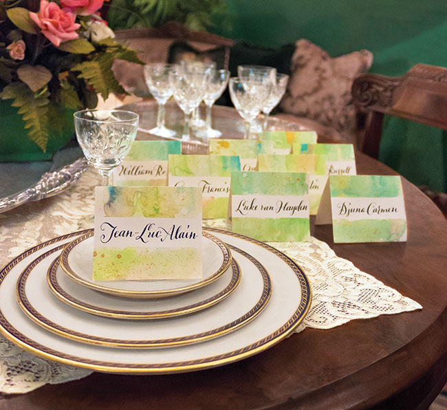 14-Green-Wedding-shoes-DIY_watercolor_placecards_finished