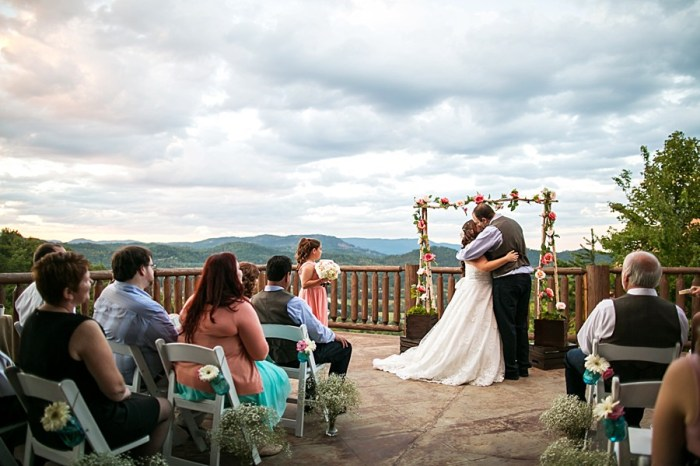 Homespun Pink and White Mountain Wedding at Swimming in the Clouds