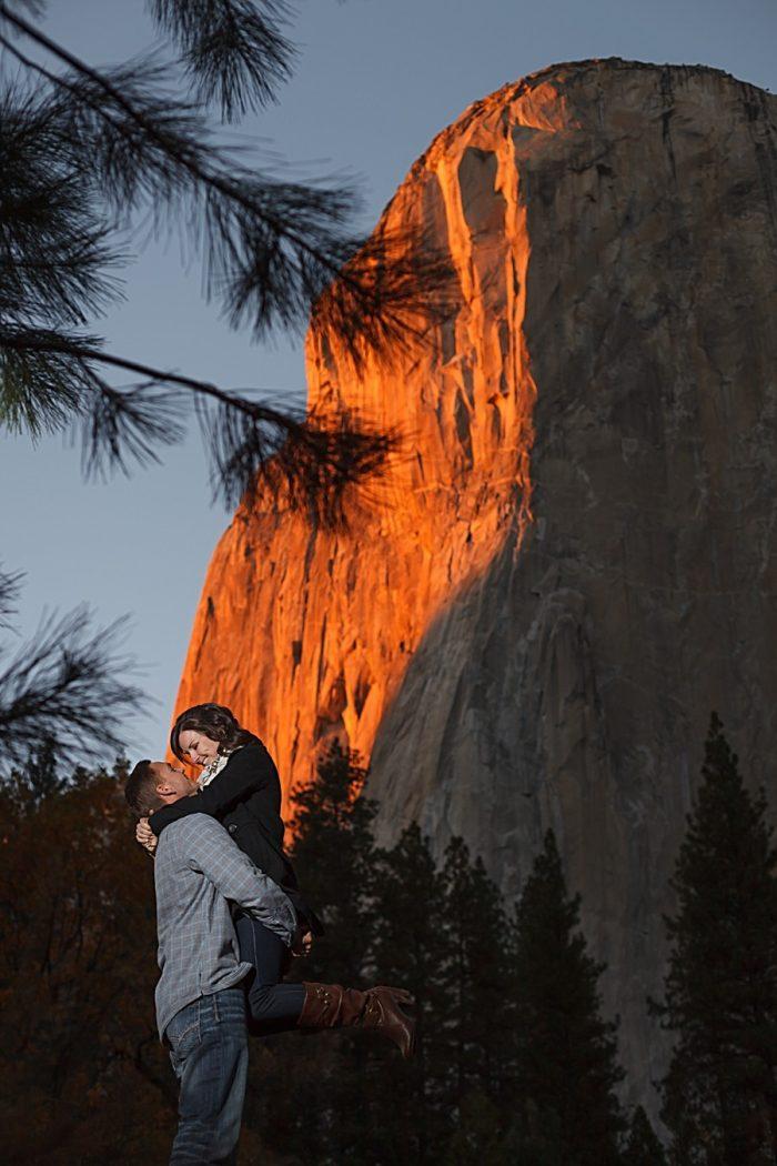 18 Fall Engagement In Yosemite | Bergreen Photography | Via MountainsideBride.com