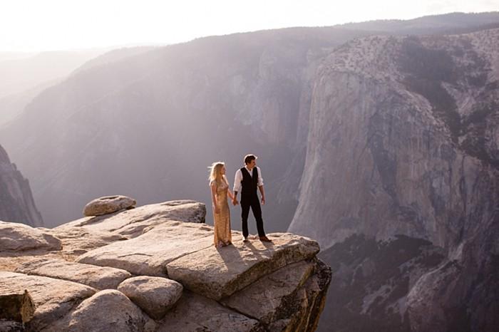 Enchanting & Adventurous Bridal Portraits in Yosemite National Park