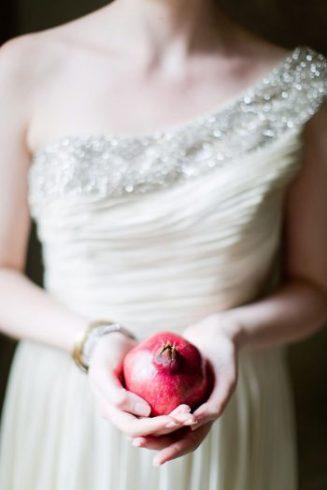 2 Pomegranate Sparkler Winter Wedding Cocktail