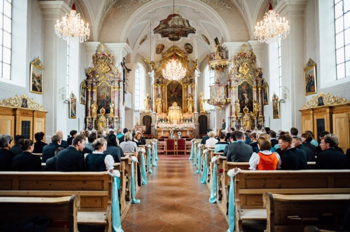 Old World Meets Modern in this Tiffany Blue and White Mountain Wedding in Austria