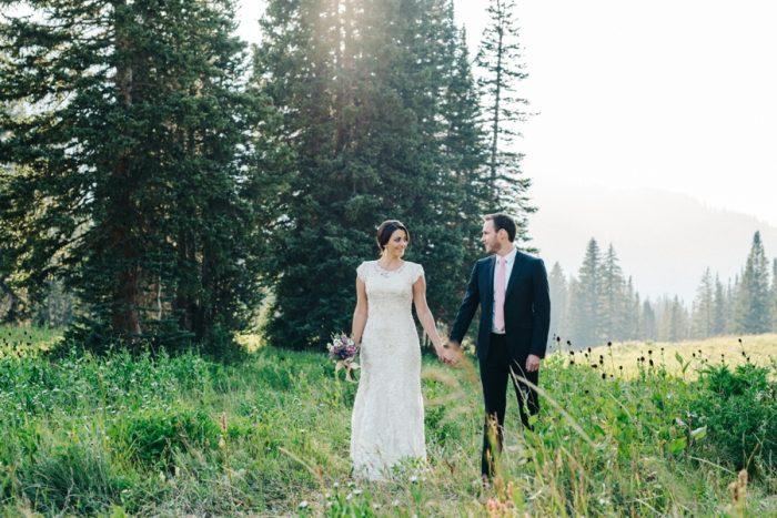 Albion Basin Mountain Bridal Session Utah | Ashleigh Brown Photography | via MountainsideBride.com