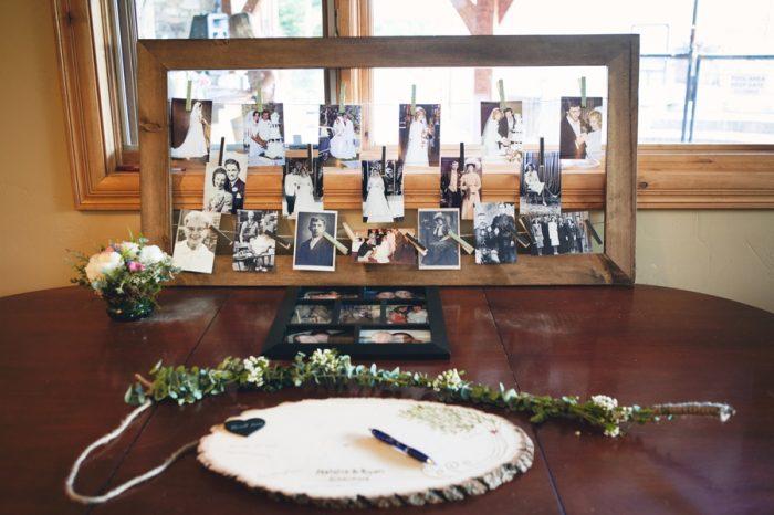 27 Wooden Guest Book Sandpoint Idaho Mountain Wedding Amy Galbraith Photography   Via MountainsideBride.com