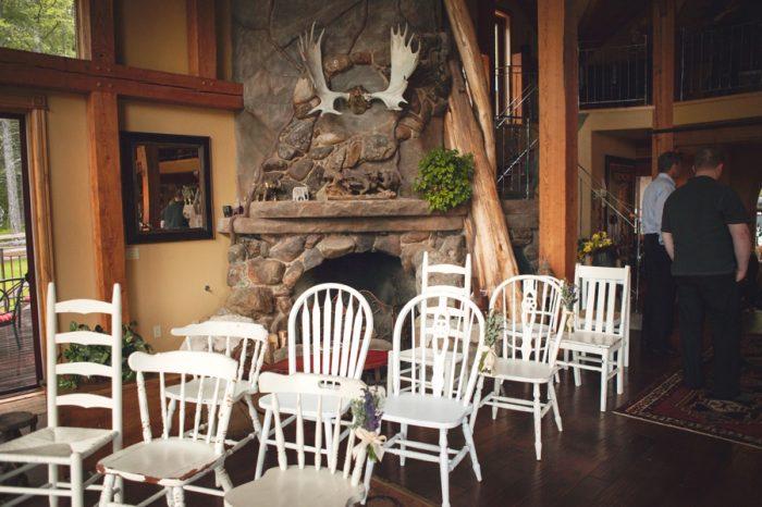 8 Indoor Rustic Ceremony Sandpoint Idaho Mountain Wedding Amy Galbraith Photography   Via MountainsideBride.com