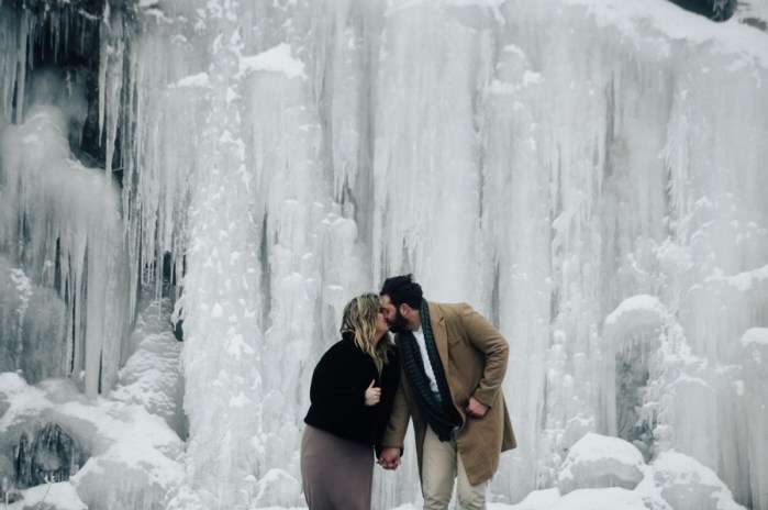 Frozen Waterfall Engagement Shoot in the Tennessee Mountains
