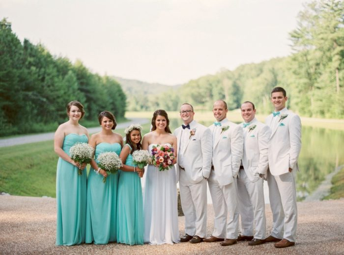 Wedding Party Butterfly Gap Wedding Maryville Tennessee JoPhoto | Via MountainsideBride.com