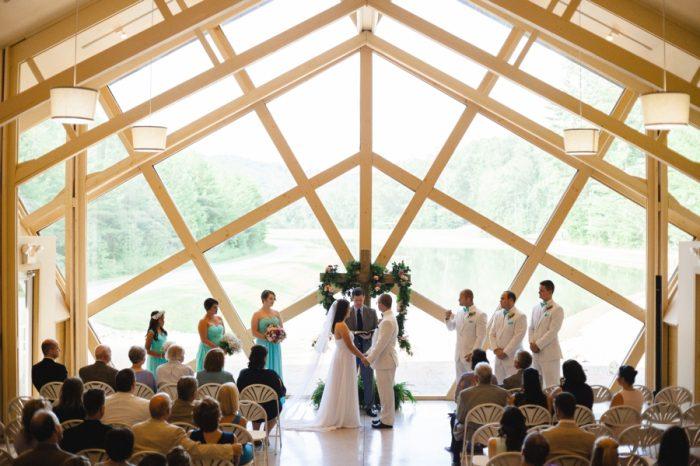 Ceremony Butterfly Gap Wedding Maryville Tennessee JoPhoto | Via MountainsideBride.com