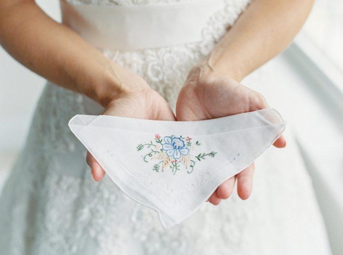 Embroidered Handkerchief | Mountain Wedding In Barboursville Virginia By JoPhoto | Via MountainsideBride.comm