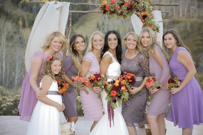 Fall Park City Wedding with Lavender, Lace and Rustic Details