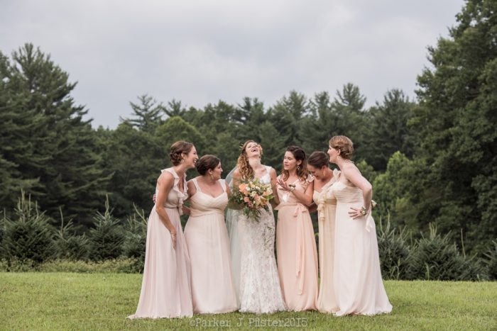 Brideamaids Portraits NC Wedding | Parker J Pfister |via Mountainside Bride