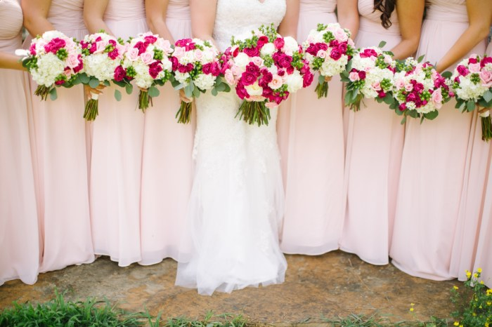 Romantic Pink and White Mountain Wedding at Pure Water Farm