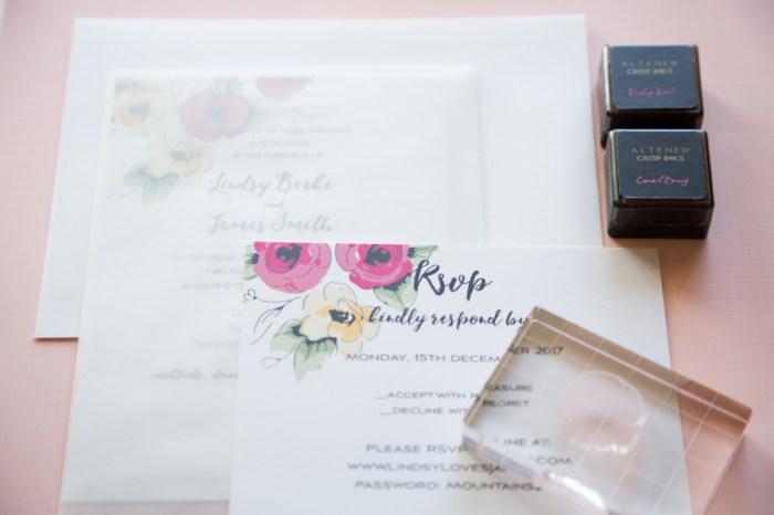 DIY Wedding Invitation Kit for Stampers