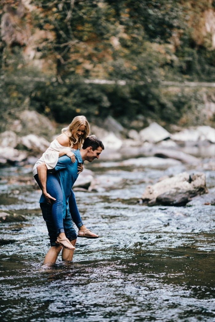 3 Smoky Mountain Engagement Session Erin Morrison Photography Via MountainsideBride.com