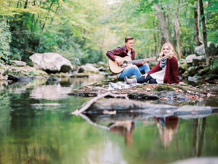 Wistfully Wooded Fall Engagement in the Smoky Mountains