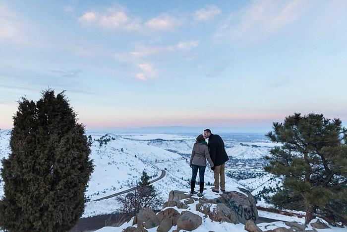 16 Train Engagement | Bergreen Photography | Via MountainsideBride.com