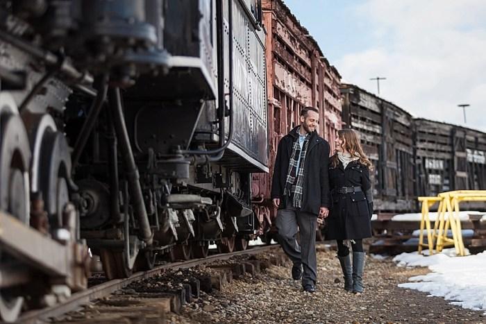 2 Train Engagement | Bergreen Photography | Via MountainsideBride.com
