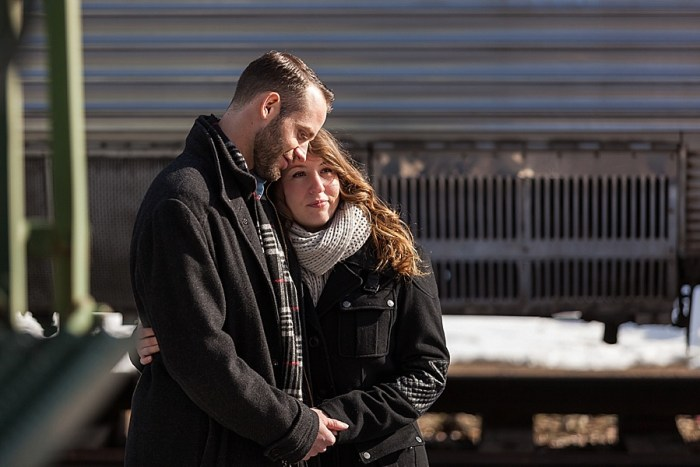 6 Train Engagement | Bergreen Photography | Via MountainsideBride.com